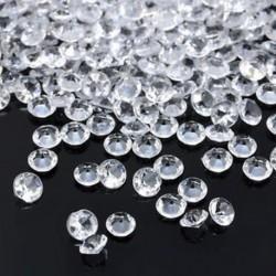 fehér 1000PCS 4.5mm esküvői dekoráció kristályok gyémánt asztal konfetti fél kellékek