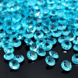 Kék 1000PCS 4.5mm esküvői dekoráció kristályok gyémánt asztal konfetti fél kellékek