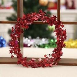 Piros 7.5m karácsonyfa csillag fenyő Garland függő dísz Xmas party fesztivál dekoráció