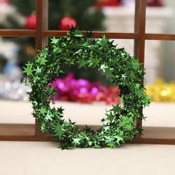 Zöld 7.5m karácsonyfa csillag fenyő Garland függő dísz Xmas party fesztivál dekoráció