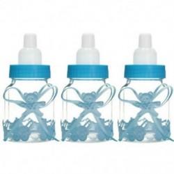 3db kék medve (9x4cm) 24lot Fillable Party Baby Girls fiúk zuhanyzó palackok medve decors kedvez a Candy Box