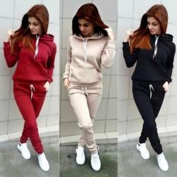 1 db női melegítő nadrág pulóver nadrág sport piros fekete