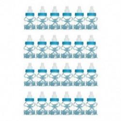 24Pcs kék medve (9x4cm) 24lot Fillable Party Baby Girls fiúk zuhanyzó palackok medve decors kedvez a Candy Box