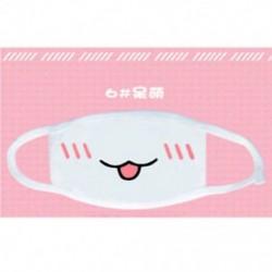 3 * Divat aranyos anime érzelem Száj-muffle Kaomoji porvédő arcmaszk Kawaii