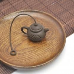 Kávé Tartós teáskanna alakú teafúvószűrő teazsák levélszűrő diffúzor szilikon