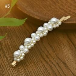 * 3 Pearl Pearl Flower Crystal hajcsapok Clips koszorúslány oldal fésű esküvői menyasszonyi ékszerek