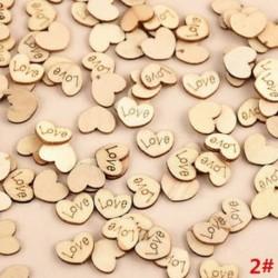 * 2 Szerelem 100db rusztikus, fából készült fa szerelem szív esküvői asztal Scatter dekoráció kézműves DIY