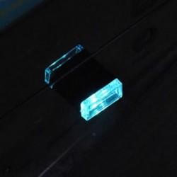Jégkék 1db USB vezeték nélküli univerzális mini beltéri autós otthon LED világítás légkör lámpa