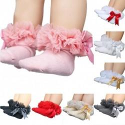 1 db gyermek zokni rózsaszín fodros csipkés piros fehér szürke