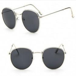 Ezüst   szürke Új divat férfi női napszemüveg Vintage Retro túlméretezett tükör szemüveg