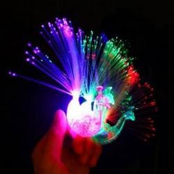 1db 5 / 10Pc Peacock Light Up ujj gyűrű lézer LED világít a sötét pálca gyerek gyerekek játék