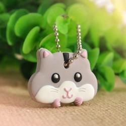 5 * Cat Új szilikon kulcstartó sapka fejborító kulcstartó tok Shell aranyos állatok alakja