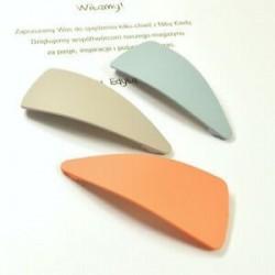 2db háromszög Divat akril természetes klip oldal haj klipek geometriai alakzat hajtű tartozék