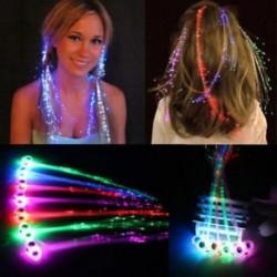 Új száloptikai haj LED fények születésnapi party ajándék táskák karácsonyi jelmez klipek