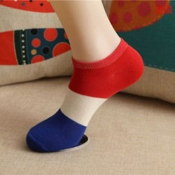 FR Divat férfi női boka zokni alacsony vágású személyzet alkalmi sport szín pamut zokni 1Pair