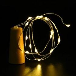 Meleg fehér 10 LED éjszakai fény parafa alakú Cooper huzal csillagos fény borosüveg lámpa dekoráció