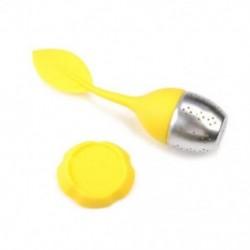 Sárga Tea infuser laza tea levél szűrő gyógynövény fűszer szűrő diffúzor labda szilikon