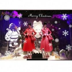 1PC A-01 (70X50CM) DIY Kivehető boldog karácsonyt hópehely fal matrica Vinyl Decal Home / Room Decor