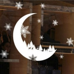 1PC Hold (25 * 35CM) DIY Kivehető boldog karácsonyt hópehely fal matrica Vinyl Decal Home / Room Decor