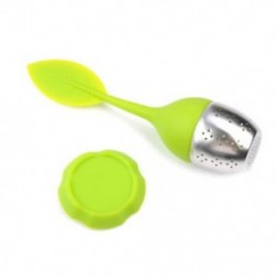 Zöld Tea infuser szilikon laza tea levél szűrő gyógynövény fűszer szűrő diffúzor labda