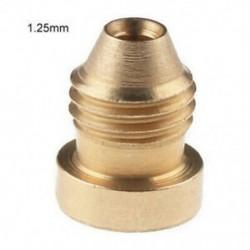 1,25 mm-es 1.1 / 1.25 mm-es hab Cannon Orifice-fúvókafej-menet Fúvóka-fúvóka a hóhabbal szemben