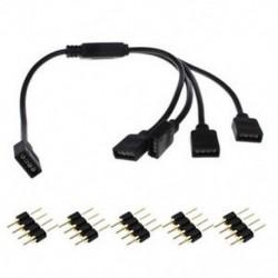 1-4 4Pin RGB LED Splitter csatlakozó Huzal kábel Aadapter csatlakozó az 5050 3528 LED szalaghoz
