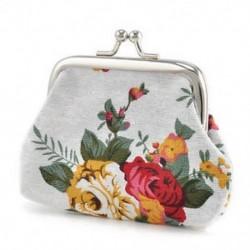 fehér Női pénztárca virág kis érme változás erszényes Hasp vászon kuplung kis pénztárca táskák