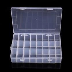 24 rekesz Műanyag 15/10/24 Slots Állítható ékszertároló doboz Box Craft Organizer Beads