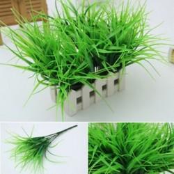 Mesterséges hamis műanyag zöld fű növényi díszítő otthoni kerti dekoráció 1db