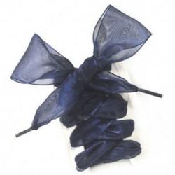 Fekete Új cipőfűzős sík selyem szatén szalag sport cipő csipkék cipők shoestrings