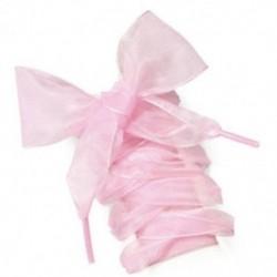 Rózsaszín Új cipőfűzős sík selyem szatén szalag sport cipő csipkék cipők shoestrings