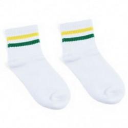 Fehér   zöld sárga Női lány pamut csíkos sport magas zokni harisnya alkalmi divat harisnya ajándék