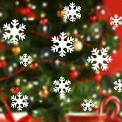 13Pcs fehér hópehely (5-8 cm) Vidám karácsony fali művészet eltávolítható otthoni vinil ablak fal matricák matrica