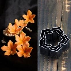 3Pcs / Set rozsdamentes acél virág fondant torta cookie-k díszítése vágó penész eszköz