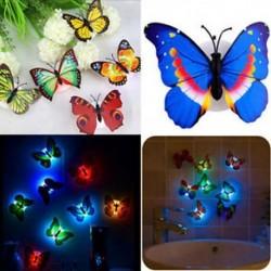 Színes változó pillangó LED éjszakai lámpa otthoni szoba fél fal asztal dekoráció