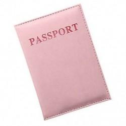 Rózsaszín Hasznos bőr utazási útlevél-azonosító kártya fedél birtokosa tok Protector Szervező Új