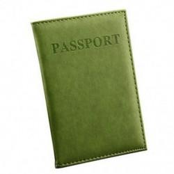 Világos zöld Hasznos bőr utazási útlevél-azonosító kártya fedél birtokosa tok Protector Szervező Új
