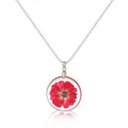 Piros Női Boho átlátszó gyanta szárított virág százszorszép medál lánc nyaklánc ékszer