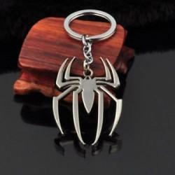 * 35 Ezüst Spider-Man Unisex kreatív ötvözet fém kulcstartó autó kulcstartó kulcstartó iránytű kulcstartó gyűrű