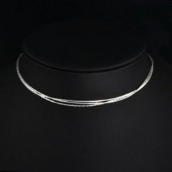 Ezüst színű Többsoros divatos nyaklánc - 75
