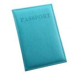 Kék Utazási útlevél-azonosító Hitelkártya-fedél birtokosa Protector Szervező Bőr Új