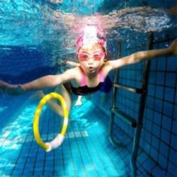 Gyerekek a víz alatti búvárkodás gyűrűk Játssz játékok Childern víz úszómedence kiegészítők