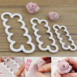 Rózsa formázó műanyag forma - csokoládéforma - fondant forma
