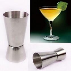 25 / 50ml Jigger Single Double Shot rövid ital-alkohol mérőpohár fél koktél