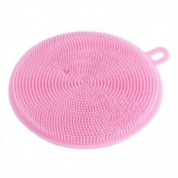 Rózsaszín 4,5 hüvelykes többcélú élelmiszer-minőségű antibakteriális szilikon Smart Sponge Dish Kitchen