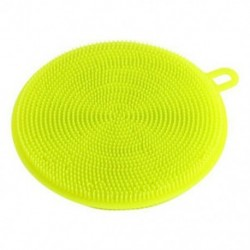 Zöld 4,5 hüvelykes többcélú élelmiszer-minőségű antibakteriális szilikon Smart Sponge Dish Kitchen