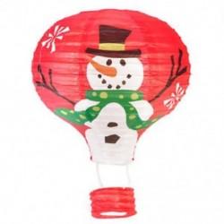 Vörös hóember Karácsonyi forró levegő papír lámpa díszítés lámpabúra otthon fél léggömb dekoráció JP