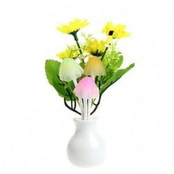 Napraforgó virág US Plug virág gomba LED éjszakai fényérzékelő Baba ágy szoba fali lámpa dekoráció ÚJ