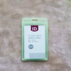 Zöld Új, tartós, kemény műanyag azonosító kártya jelvénytulajdonos eset Alkalmazott névcímke vízálló