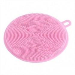 Rózsaszín Többfunkciós antibakteriális szilikon ételmosó szivacs kefe mosogatógép